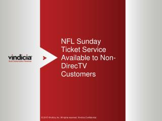 NFL Sunday Ticket Service Available to Non-DirecTV Customers