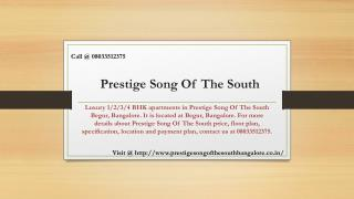 Prestige Song of South
