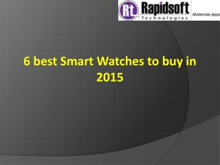 Smart Watches to buy in 2015