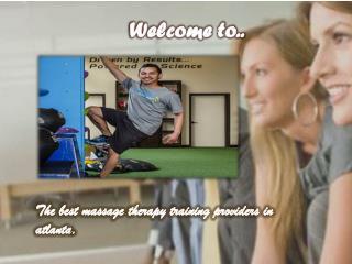 Massage Therapy Atlanta