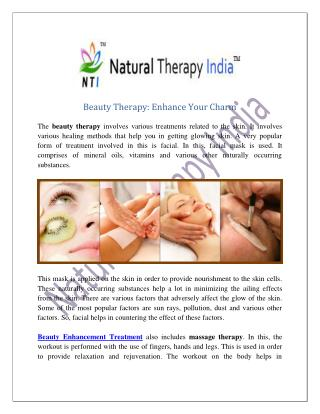 Beauty Therapy In India | Beauty Enhancement Treatment