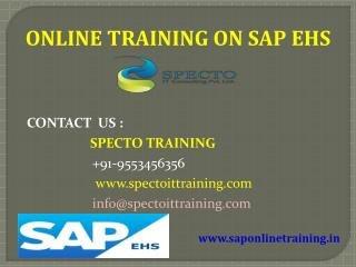 sap ehs online training