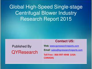 Global High-Speed Single-stage Centrifugal Blower Market 2015 Industry Growth, Trends, Analysis, Research and Developmen