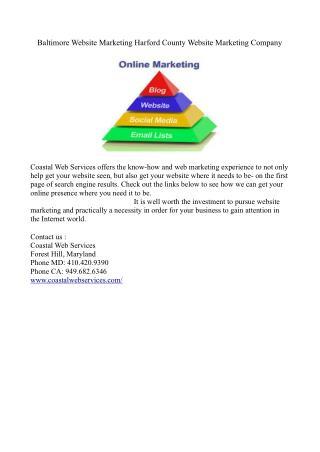 Baltimore Website Marketing Harford County Website Marketing Company