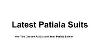 Patiala and Semi Patiala Salwar