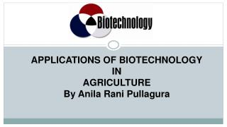 Application of Biotechnology In Agriculture PPT by Anila Rani Pullagura