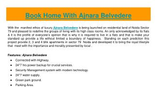 Book home with ajnara le garden