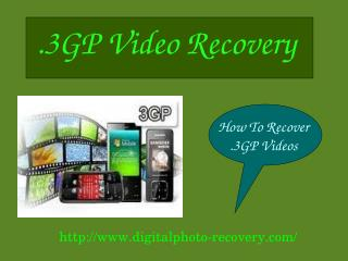 Make Easy Recovery of Lost Videos