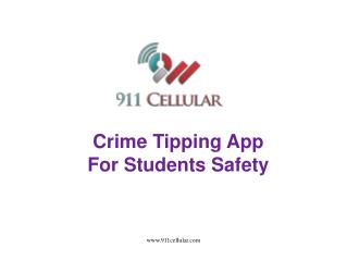 Crime Tipping App For Students Safety