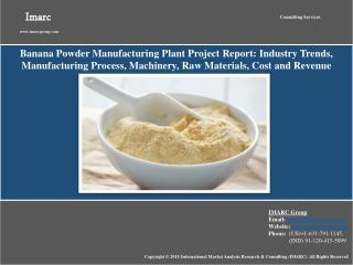 Banana Powder Market & Manufacturing Plant Project Report
