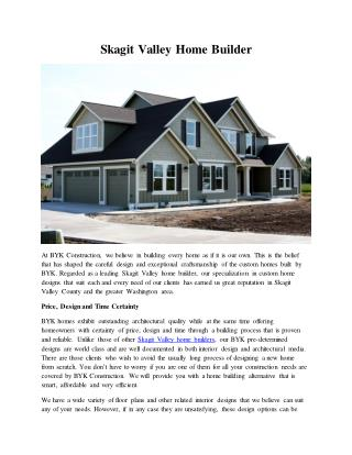 Skagit Valley Home Builder