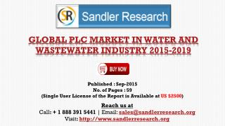 World PLC Market in Water and Wastewater Industry Research Report 2015 – 2019