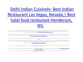 Delhi Indian Cuisinelv- Best Indian Restaurant Las Vegas, Nevada,| Best halal food restaurant Henderson, NV,