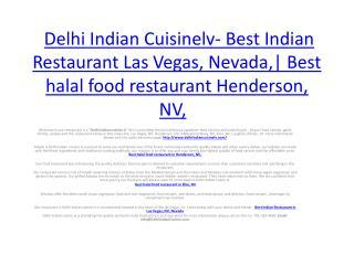 Delhi Indian Cuisinelv- Best Indian Restaurant Las Vegas, Nevada,| Best halal food restaurant Henderson, NV,
