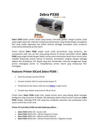 Printer Zebra P330i