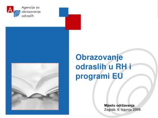 Obrazovanje odraslih u RH i programi EU