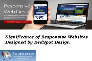 Significance of Responsive Websites Designed by RedSpot Design