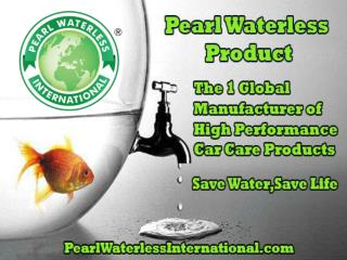 Pearl Waterless Product to Conserver Water