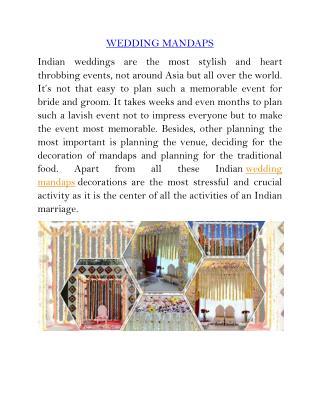 Indian wedding mandaps_melbourne