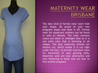 maternity shops Brisbane
