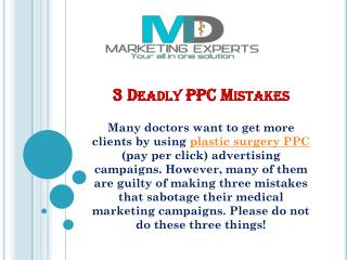 3 Deadly PPC Mistakes
