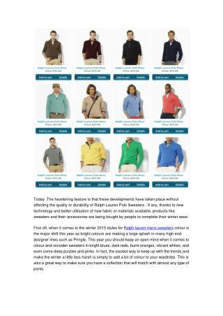 Wholesale Ralph Lauren Sweaters From BrandsWeekend.su