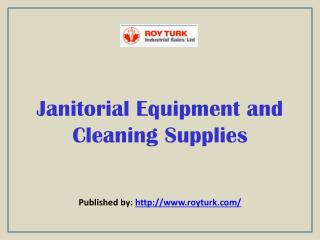 Janitorial Equipment And Cleaning Supplies