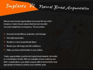 Implants vs Natural Breast Augmentation