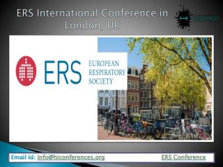 Booking Hotels For ERS Conference