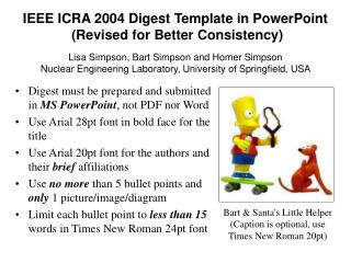 IEEE ICRA 2004 Digest Template in PowerPoint