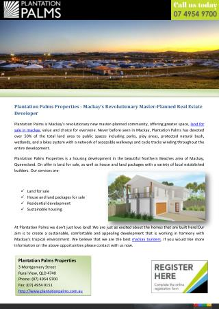 Plantation Palms Properties - Mackay's Revolutionary Master-Planned Real Estate Developer