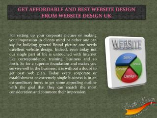 Get Affordable and Best Website Design from Website Design UK