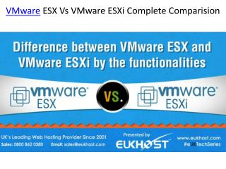 VMware ESX Vs VMware ESXi Complete Comparision