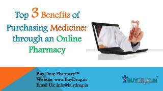 Top 3 benefits of purchasing medicines through an online pharmacy
