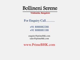 Bollineni Serene, Yelahanka, Bangalore