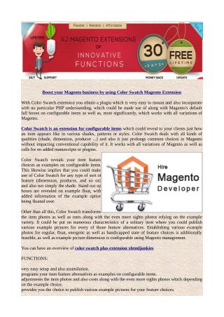 Boost your Magento business by using Color Swatch Magento Extension