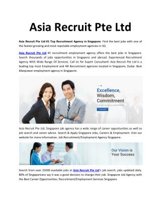 Asia Recruit Pte Ltd