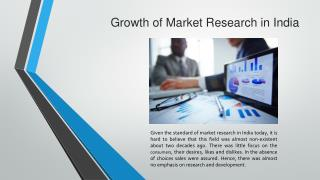 Growth of Market Research in India