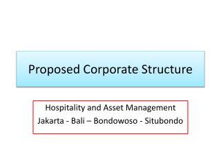 Generic corporate structure