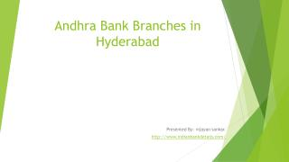 Andhra Bank Branches in Hyderabad