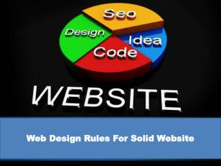 Web design rules for solid website