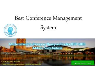 Best Conference Management System