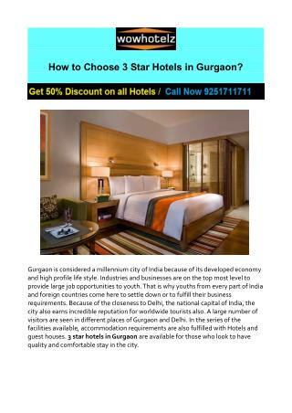 3 Star Hotels in Gurgaon