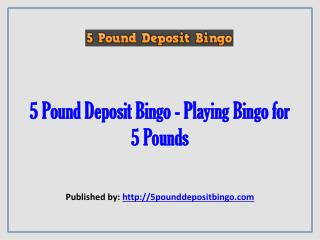 5 Pound Deposit Bingo-Playing Bingo For 5 Pounds