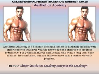 Online Personal Fitness Trainer and Nutrition Coach | Aesthetics Academy