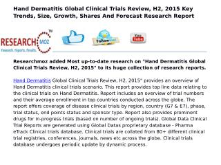 Hand Dermatitis Global Clinical Trials Review, H2, 2015