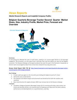 5)Worldwide Belgium Quarterly Beverage Market – Opportunity and Forecast 2015