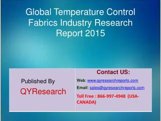 Global Temperature Control Fabrics Market 2015 Industry Shares, Forecasts, Analysis, Applications, Study, Trends, Develo