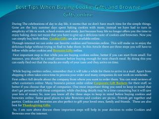Best Tips When Buying Cookie Gifts and Brownie Gifts online