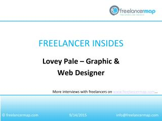 Lovey Pale – Graphic & Web Designer